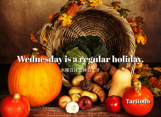 Wednesday is a regular holiday.