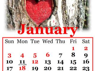 2021年1月の営業カレンダー