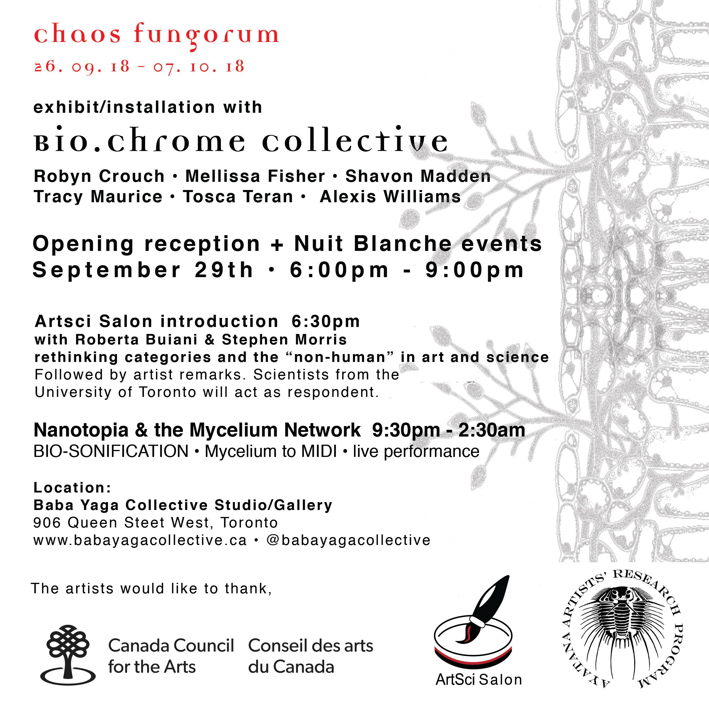 Chaos Fungorum an Exhibition