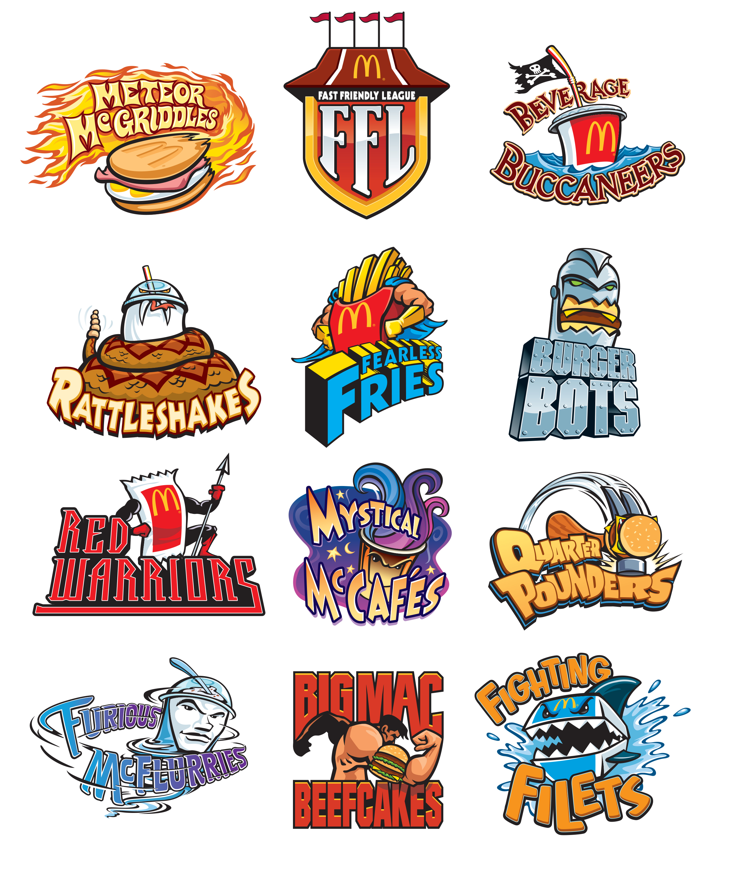 McDonalds FFL Team Logos
