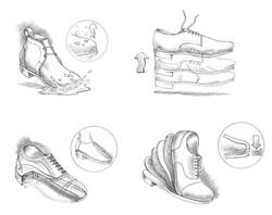 Caleres Shoe Feature Sketches