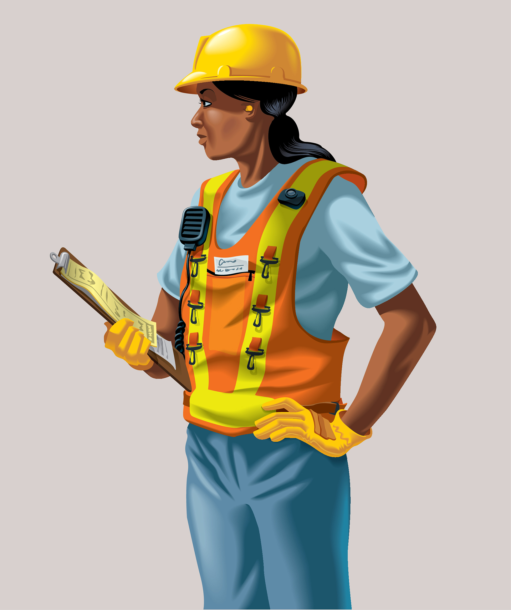 Yard Worker for Union Pacific Mural