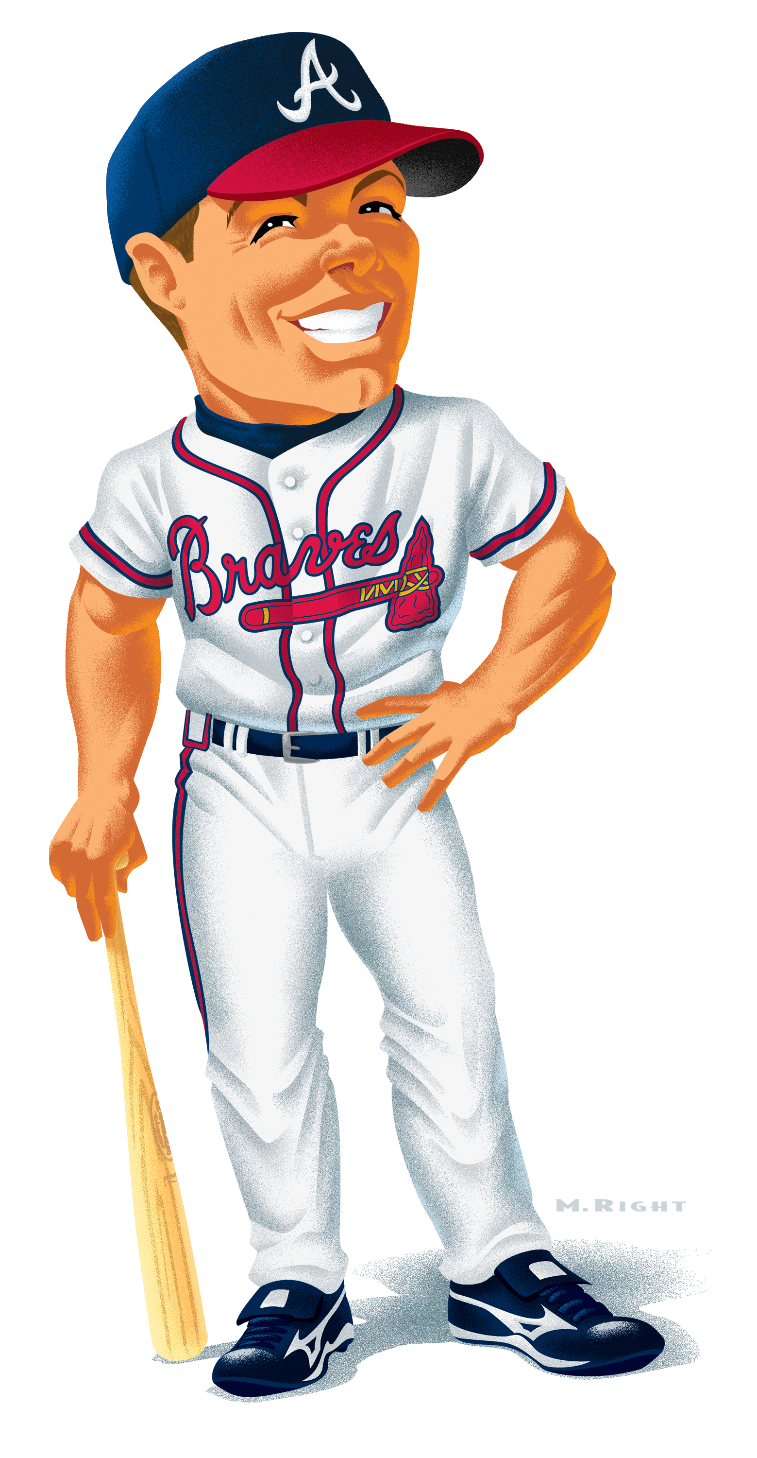 Chipper Jones Caricature