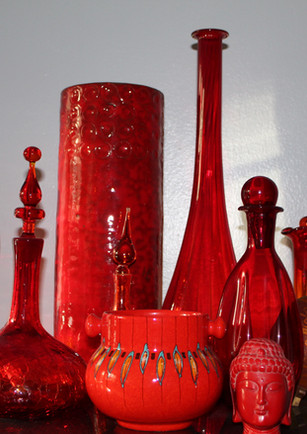 styled vintage glass collection