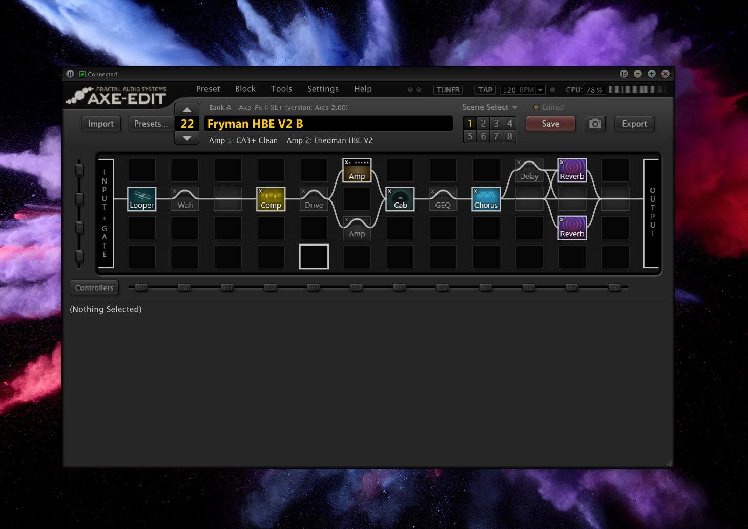 Fryman Axe FX 2 AXE-Edit Screen