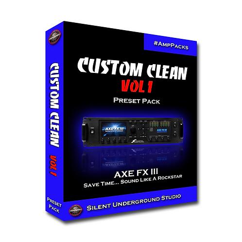 Custom Cleans Vol 1 - AXE FX 3 (16 Presets)