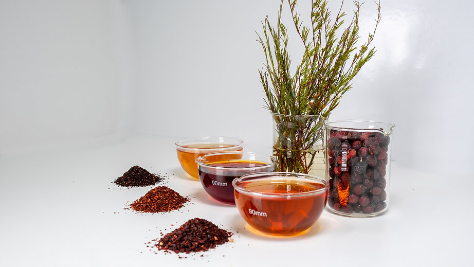 Product Display, Cape Natural Tea Products supplier of bulk and packed herbal teas including Rooibos, Rosehip, Honeybush, and African botanicals