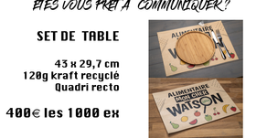Sets de table en Kraft recyclé