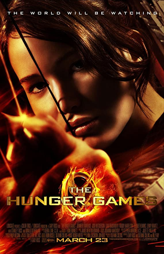 """""""The Hunger Games"""" movie poster."""