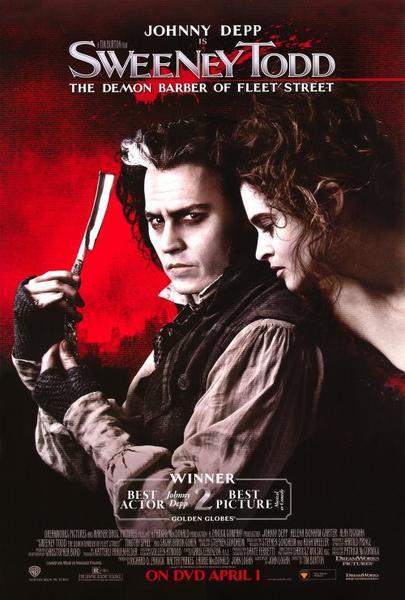 Sweeney Todd: The Demon Barber of Fleet Street movie poster.