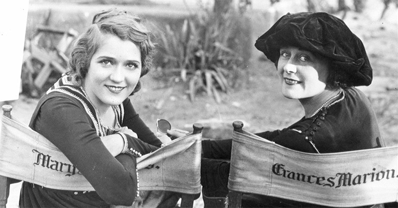 From left to right: Mary Pickford and Frances Marion.