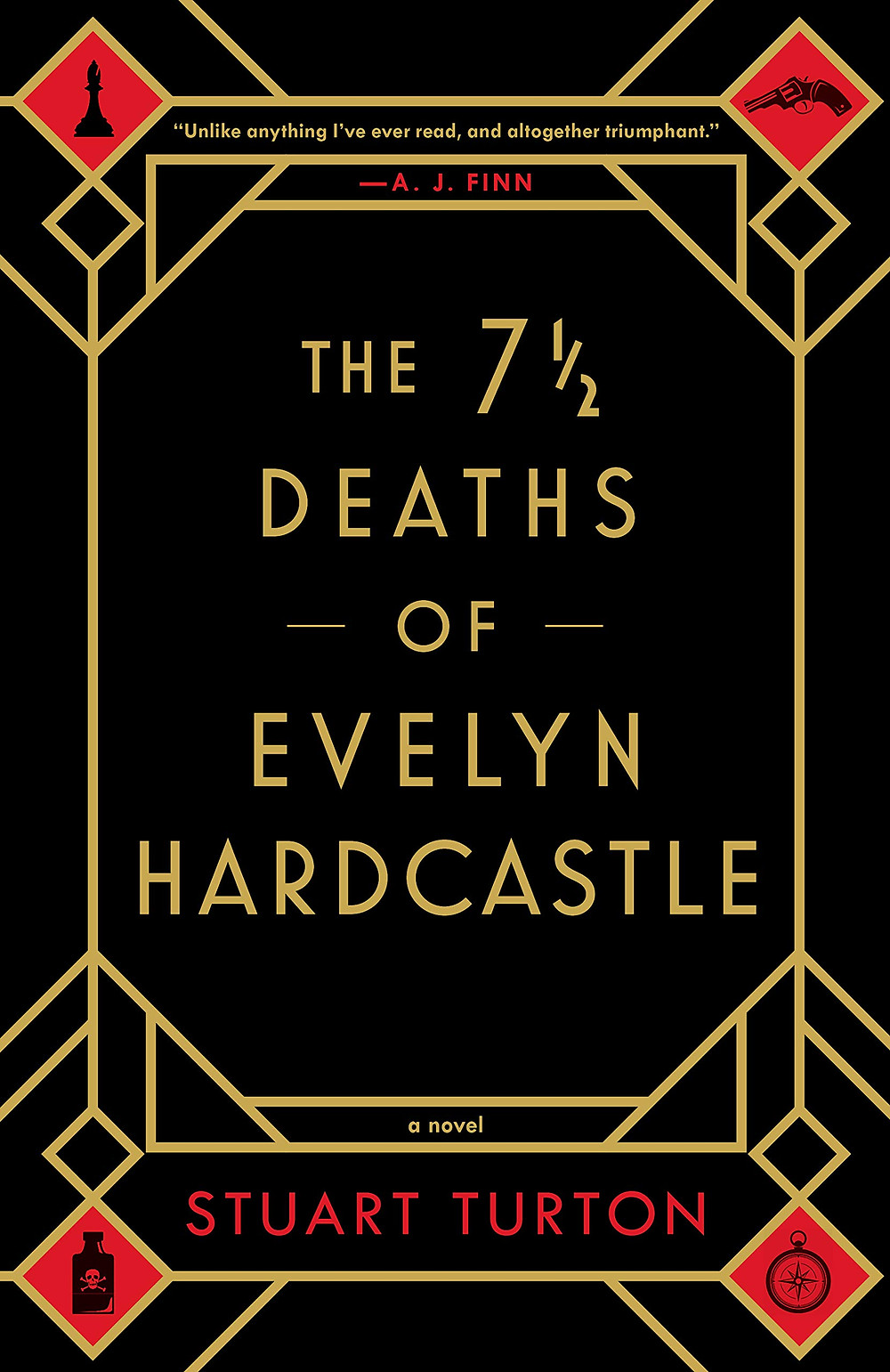 Book cover of The 7 1/2 Deaths of Evelyn Hardcastle.