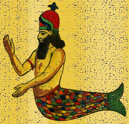 Depiction of Dagon from Mesopotamian culture.