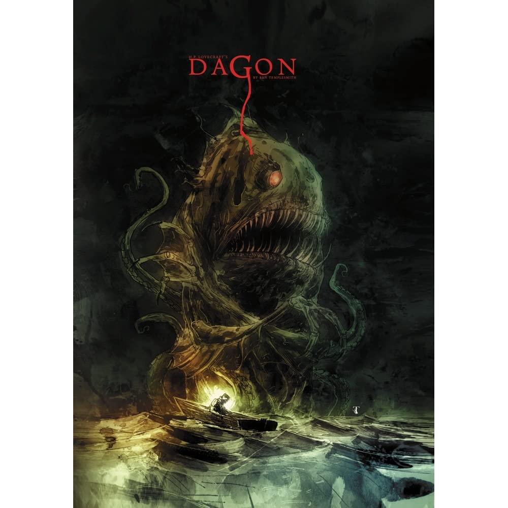 """Book cover of """"Dagon"""" by H.P. Lovecraft."""