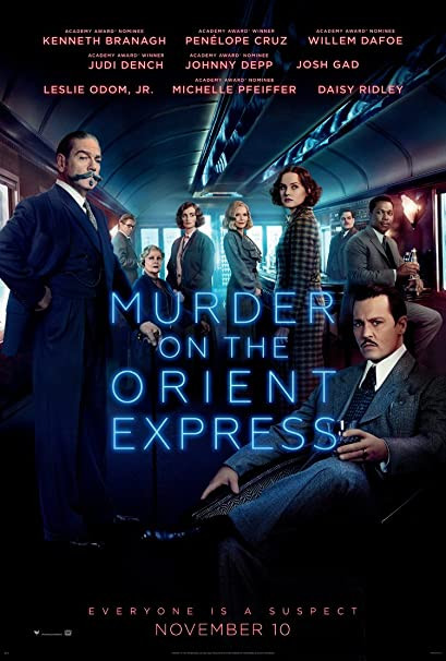 Murder on the Orient Express movie poster.