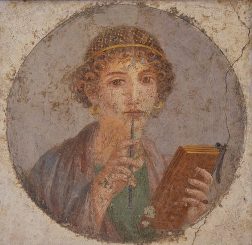 Portrait of Sappho.