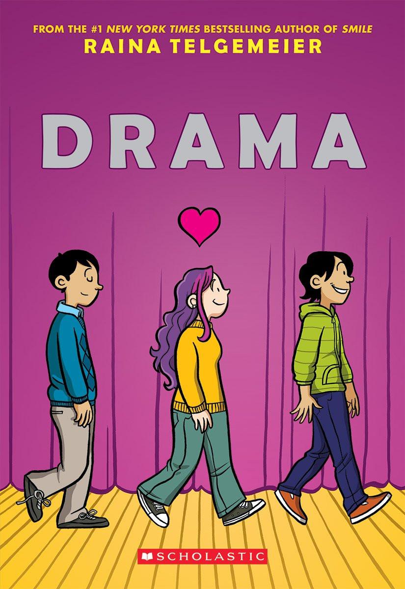 Drama by Raina Telgemeier book cover.