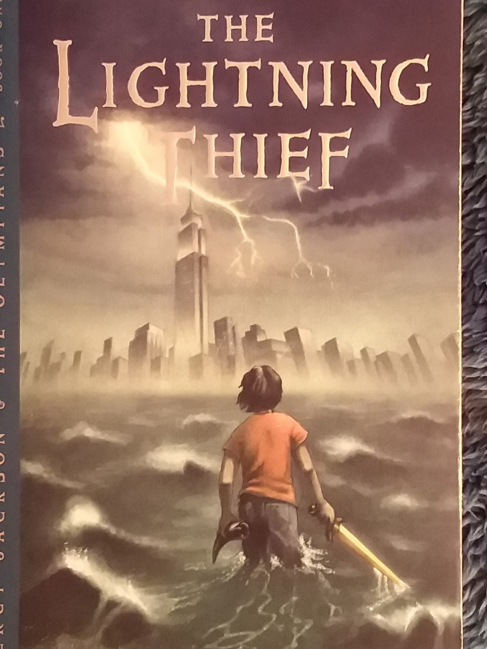The Cover of Percy Jackson and the Olympians: The Lightning Thief by Rick Riordan