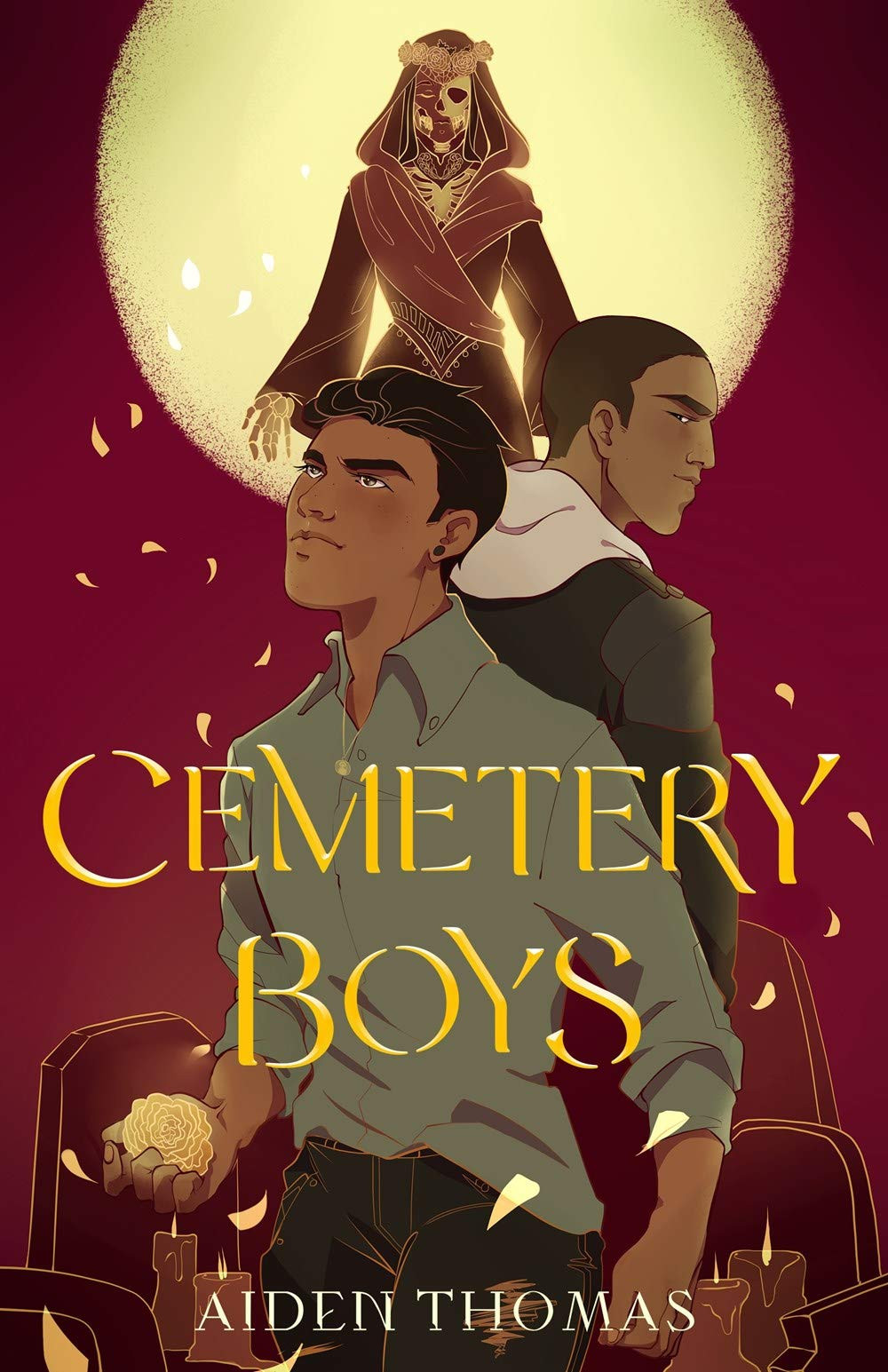 Book cover of Cemetery Boys by Aiden Thomas.