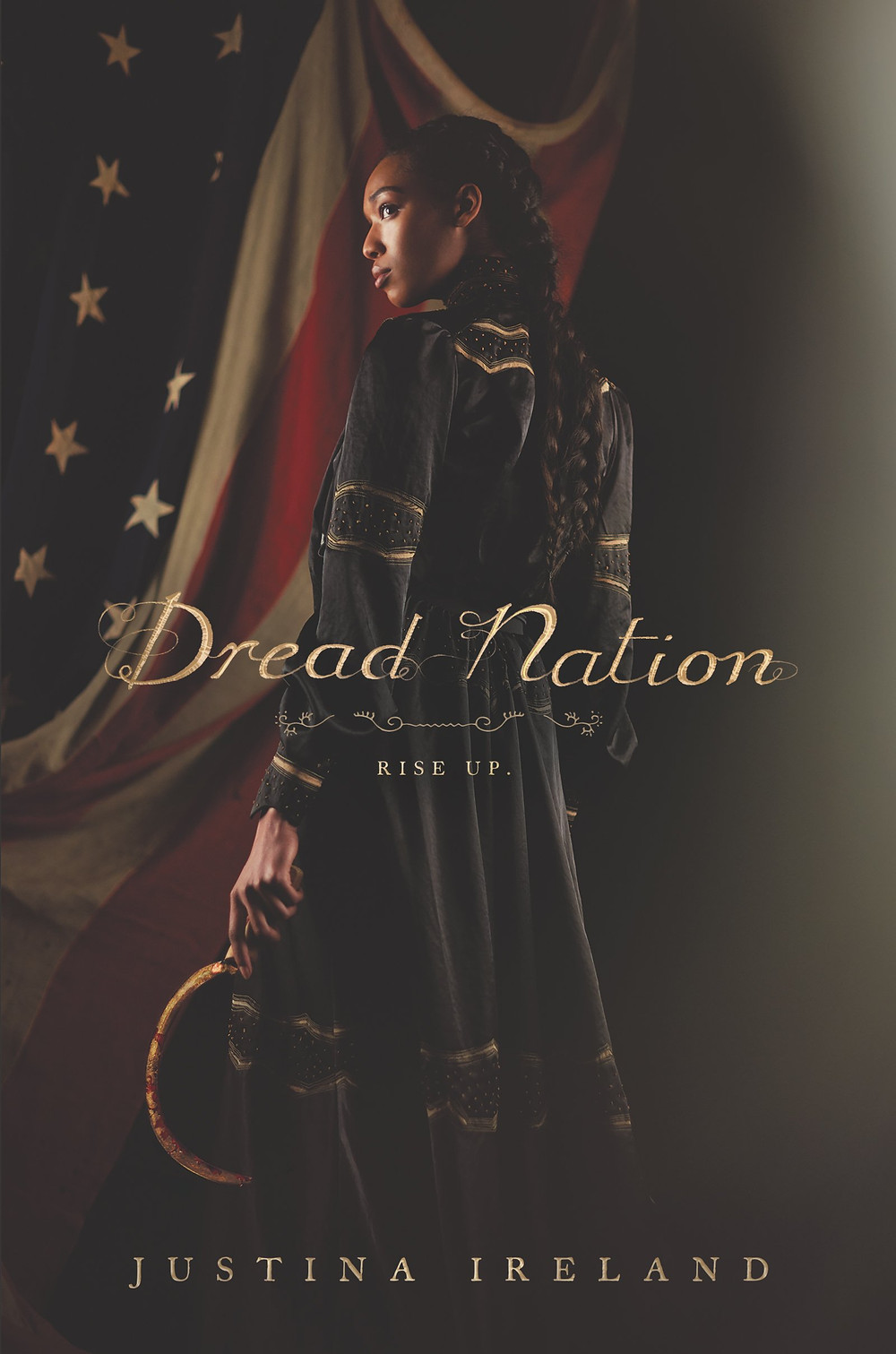 Book cover of Dread Nation by Justina Ireland.