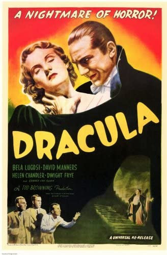 """1931 movie poster of """"Dracula."""""""