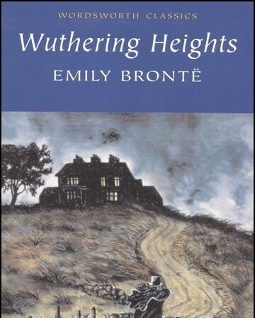 Book cover to Wuthering Heights.