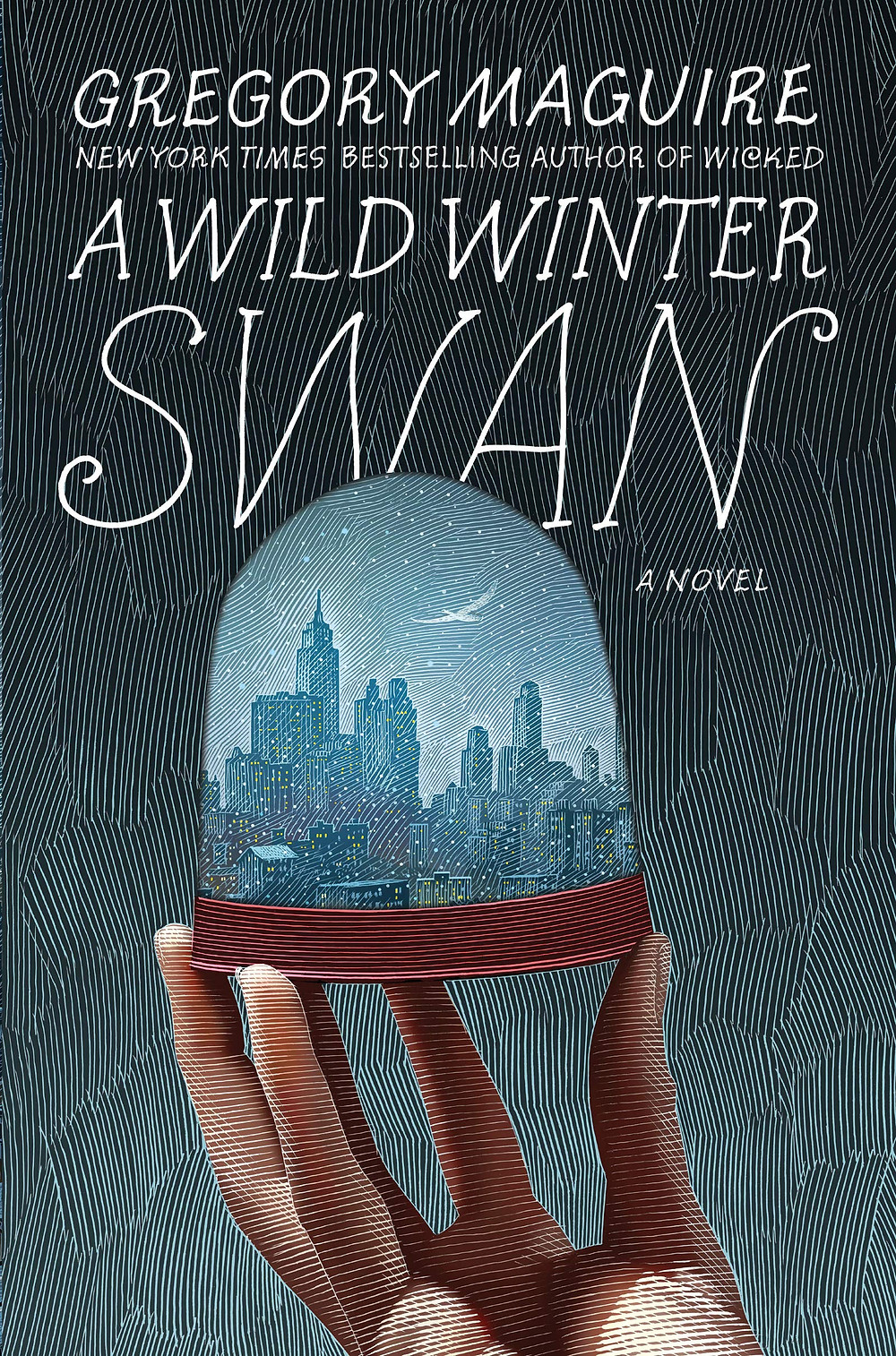 Book cover of A Wild Winter Swan by Gregory Maguire.