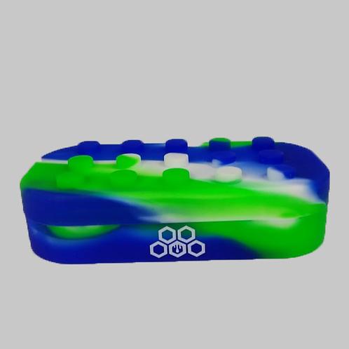 Reservatório Silicone Lego Cultura Dab -Verde - Azul e Branco