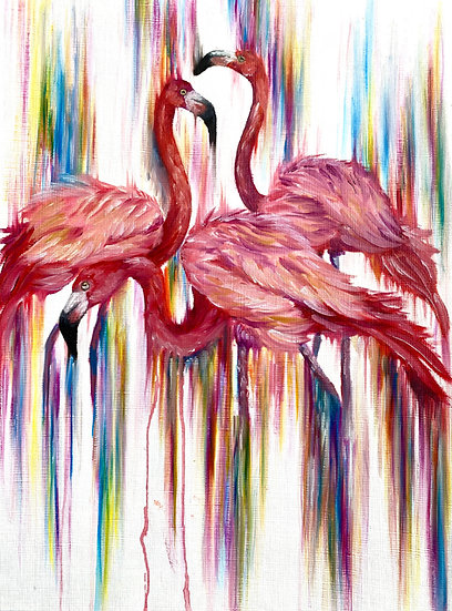 Flamboyance Paper Painting