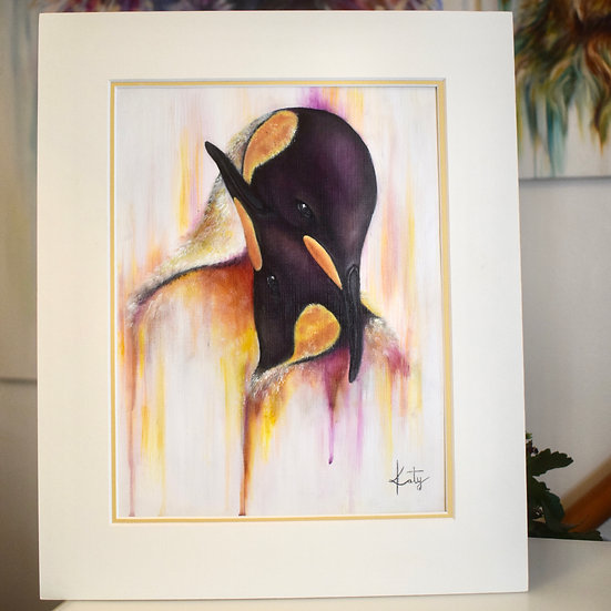 FAITHFUL COURTSHIP ORIGINAL PAINTING WITH DUAL MOUNT