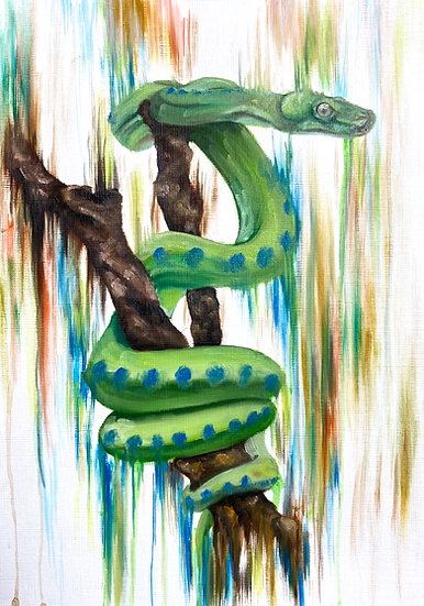 Coiled Over Paper Painting