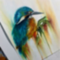 King Fisher Oil Painting
