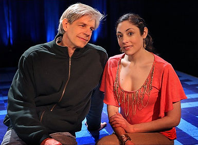 "New York Times photo of Najla Said and Sturgis Warner from the 2010 production of ""Palestine"""