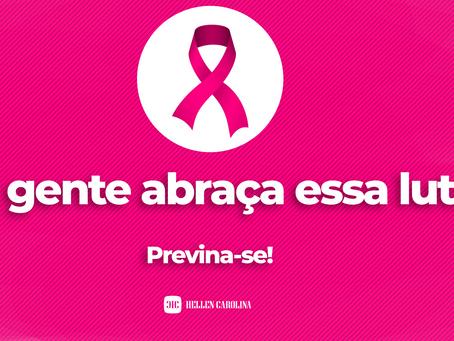 Hellen Carolina engajada na causa do câncer de mama