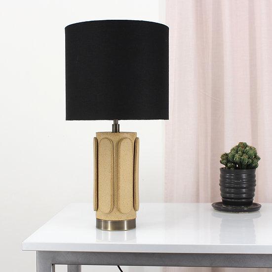 Ovid Sand Table Lamp (Black Shade)