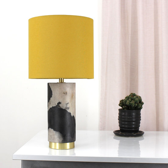 Smoke & Brass Table Lamp