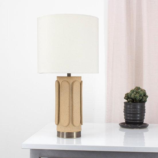 Ovid Sand Table Lamp (Cream Shade)