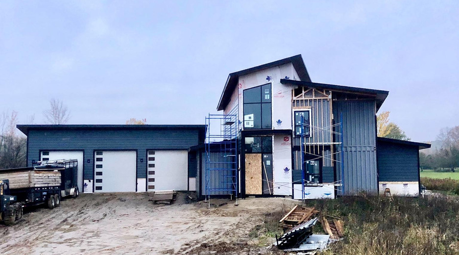 Ebeling House Exterior Construction
