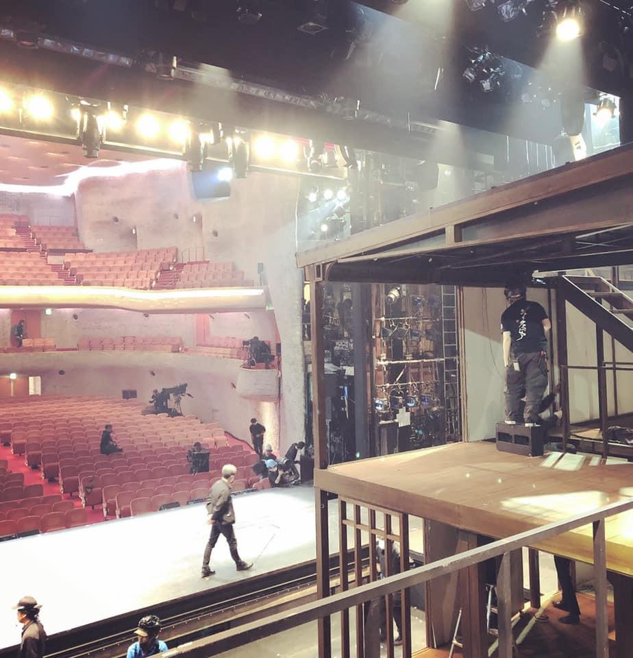 『天保十二年のシェイクスピア』DVD収録日。バンドフロアから望む日生劇場