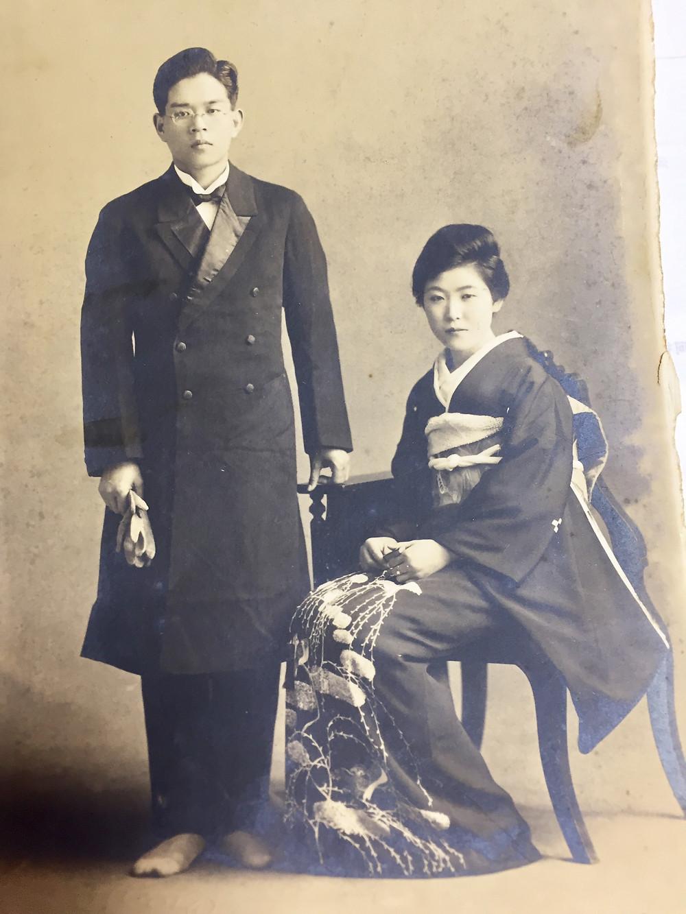 祖父の田中俊資と前妻の貞子