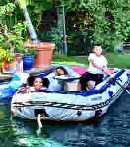 Kids in Boat