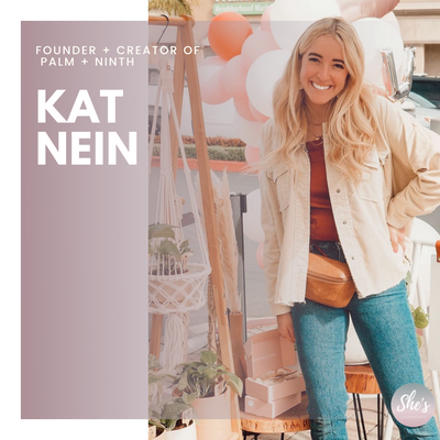 Kat Nein Founder and Creator of Palm + Ninth
