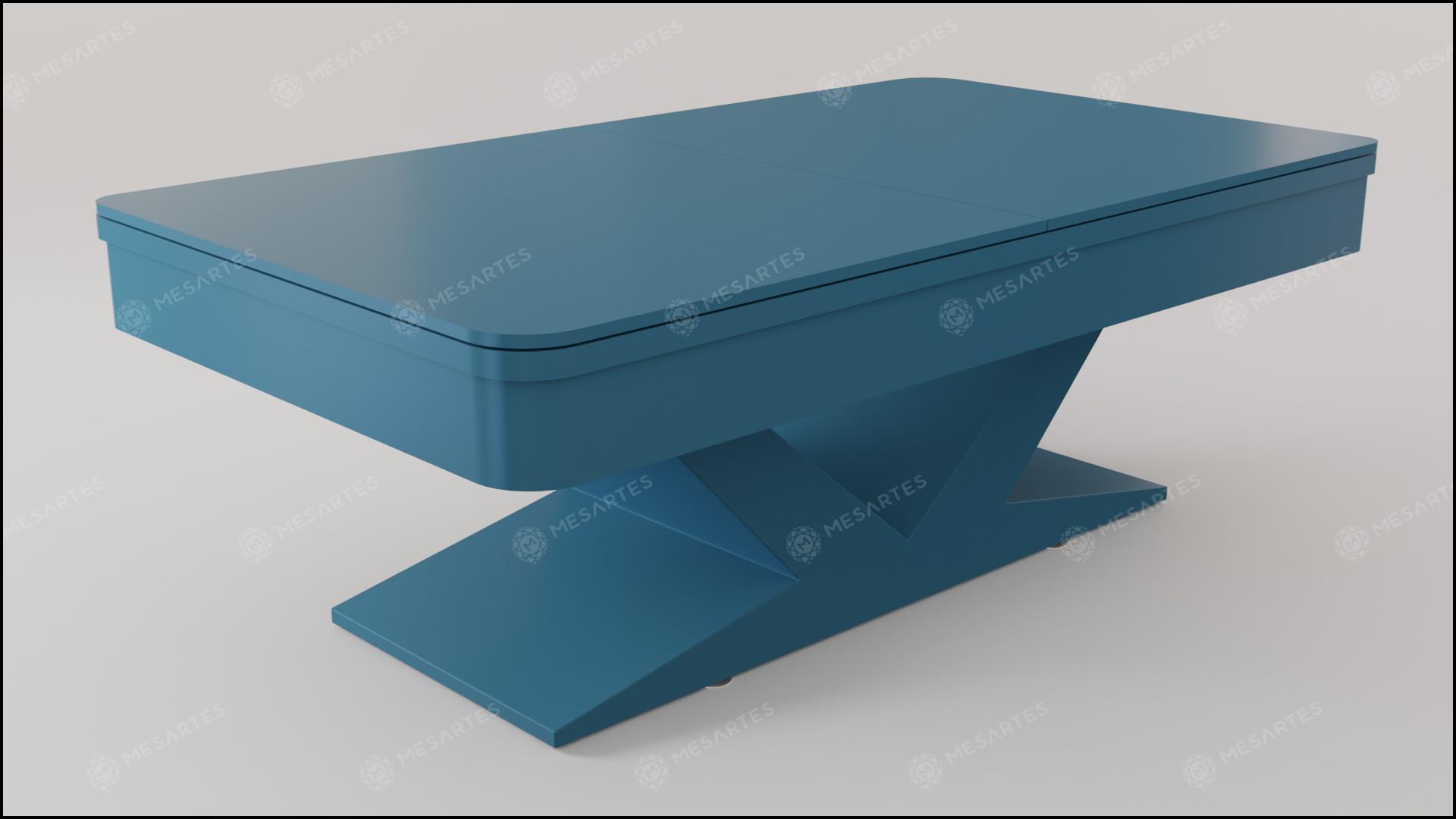 Verona em Laca cor Azul Cerúleo Acetinado com Tampo Jantar