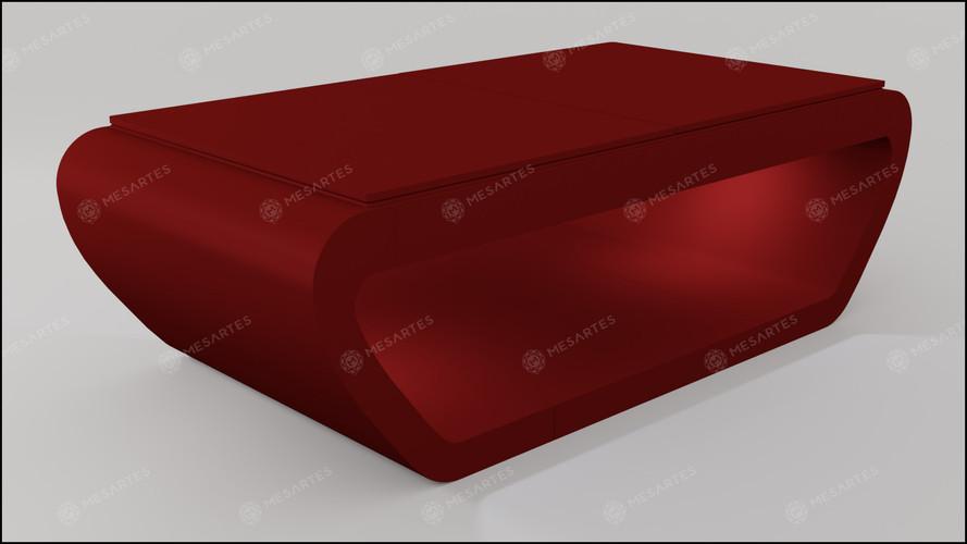 Noruega em Laca cor Vermelho Bordo Acetinado com Tampo Jantar