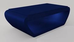 Noruega em Laca cor Azul Safira Acetinado com Tampo Jantar