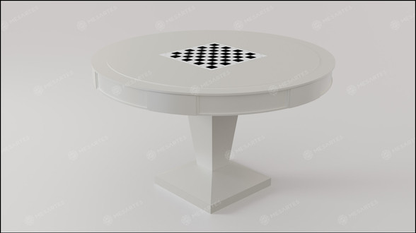 Reversível (Xadrez) em Branco Fosco