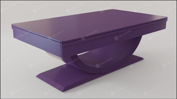 Toronto em Laca cor Purple Love Symbol Acetinado com Tampo Jantar