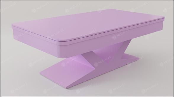 Verona em Laca cor Candy Pink Acetinado com Tampo Jantar