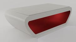 Noruega em Laca cor Branco e Vermelho Acetinado com Tampo Jantar