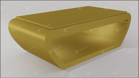 Noruega em Laca cor Dourado Acetinado com Tampo Jantar